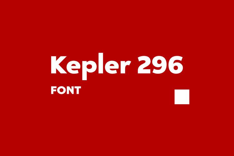 Kepler 296 Sans Font-1