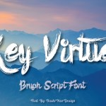 Key Virtue Brush Font