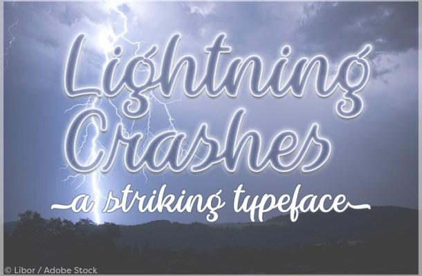 Lightning Crashes Script Font