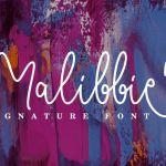 Malibbie Signature Font