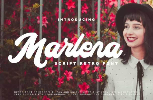 Marlena Script Retro Font