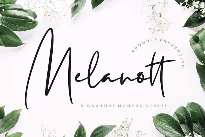 Melanott Modern Signature Font-1