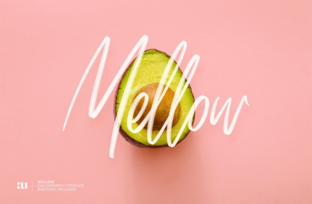 Mellow Brush SVG Font