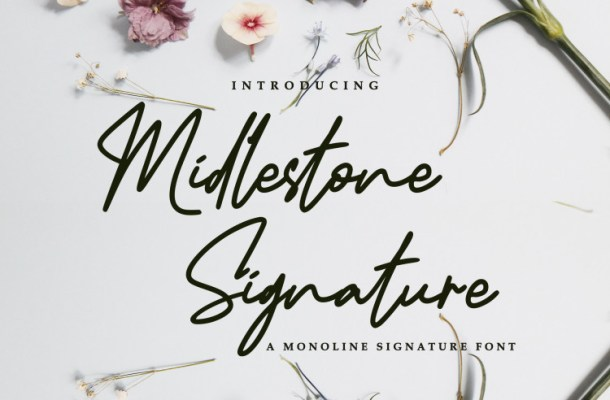 Midlestone Signature Font
