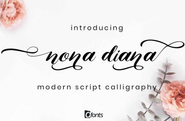 Nona Diana Script Font