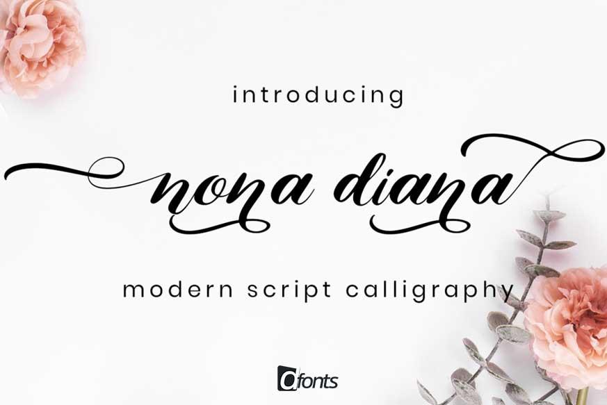 Nona Diana Script Font-1