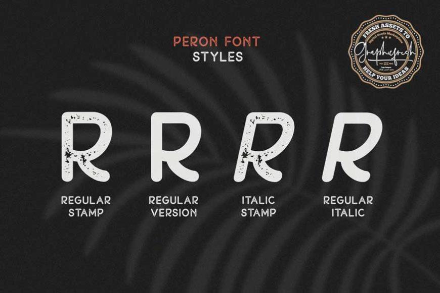 Peron Font Family-2