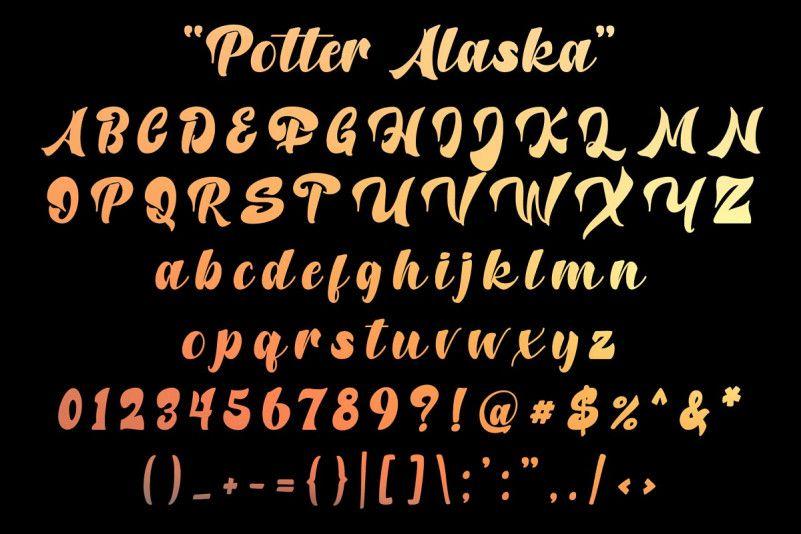 Potter Alaska Font-2