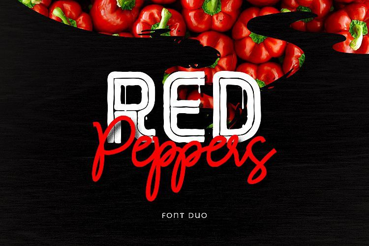Red Peppers Font Duo-1