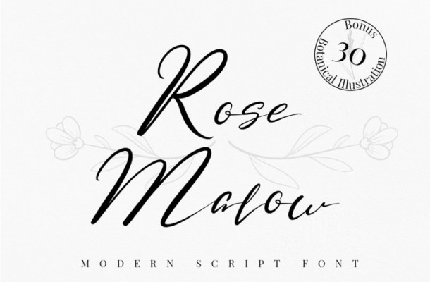 Rose Malow Script Font