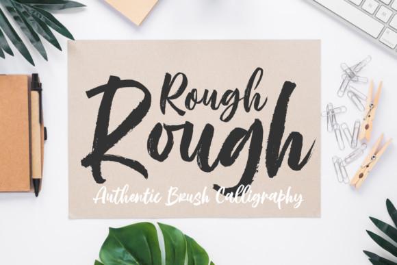 Rough Rough Brush Font-1