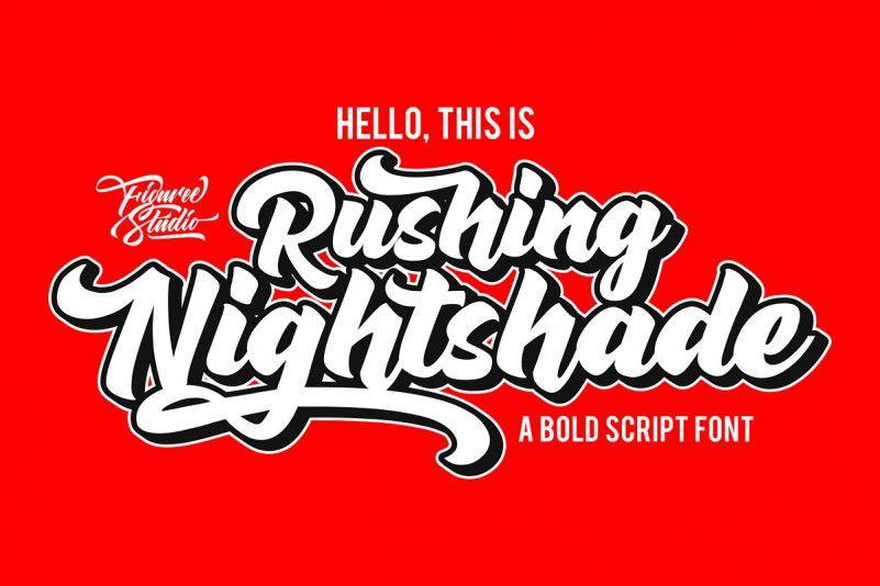 Rushing Nightshade Script Font-1