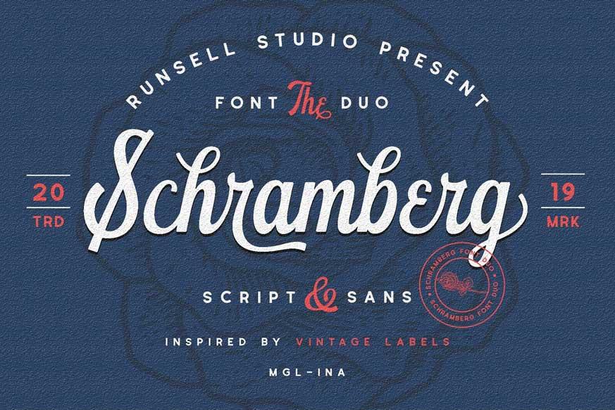 Schramberg Font Duo+Logo Template-1