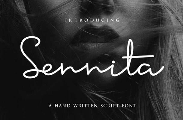 Sennita Script Font