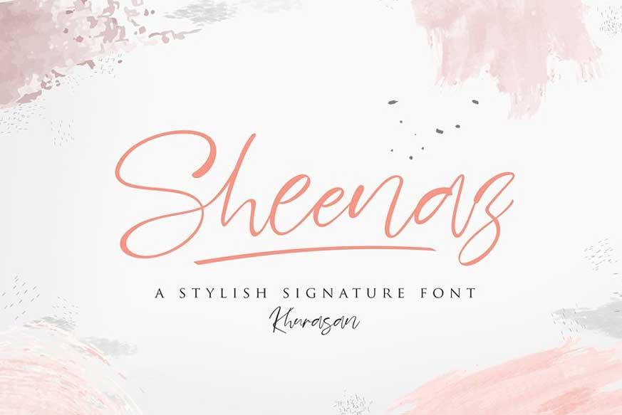 Sheenaz Script Font-1