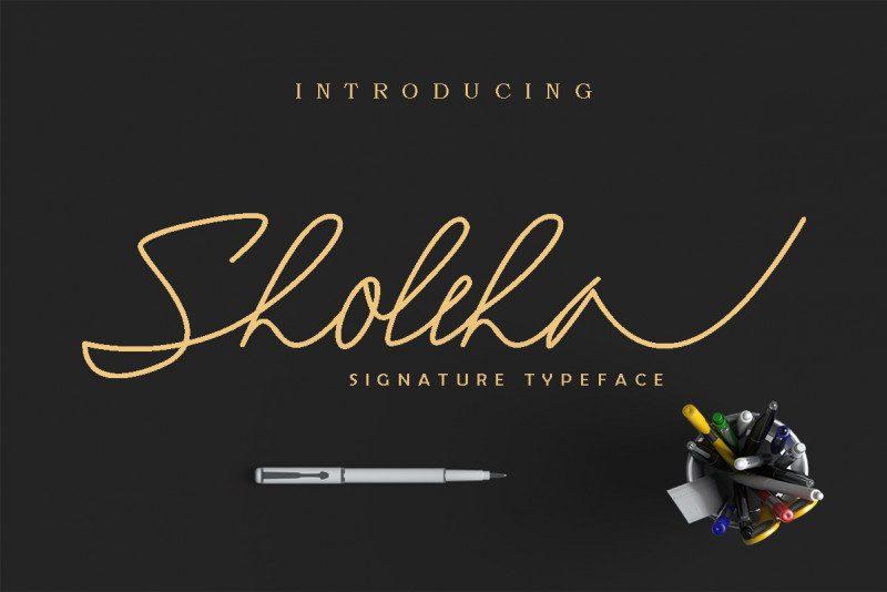 Sholeha Signature Font-1