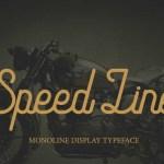 Speed Line Font