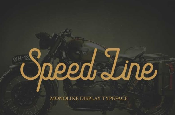 Speed Line Font
