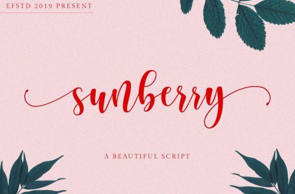 Sunberry Script Font