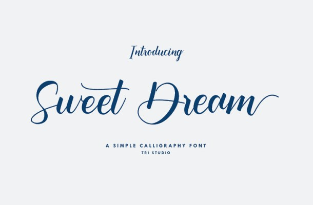 Sweet Dream Calligraphy Font