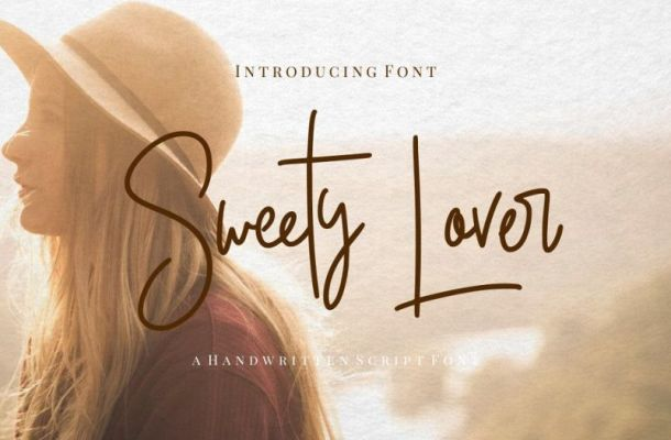 Sweety Lovers Signature Font