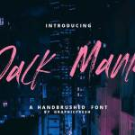 The JACK MANIA Brush Font