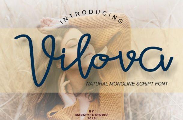 Vilova Script Font
