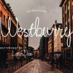 Westburry Handwritten Font