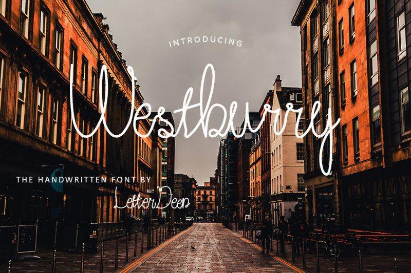 Westburry Handwritten Font-1