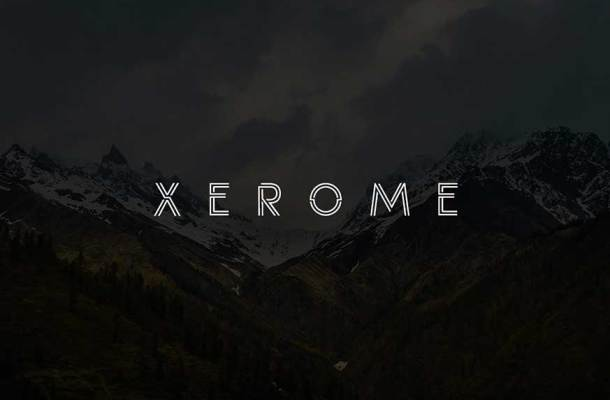 Xerome Display Typeface With Webfont