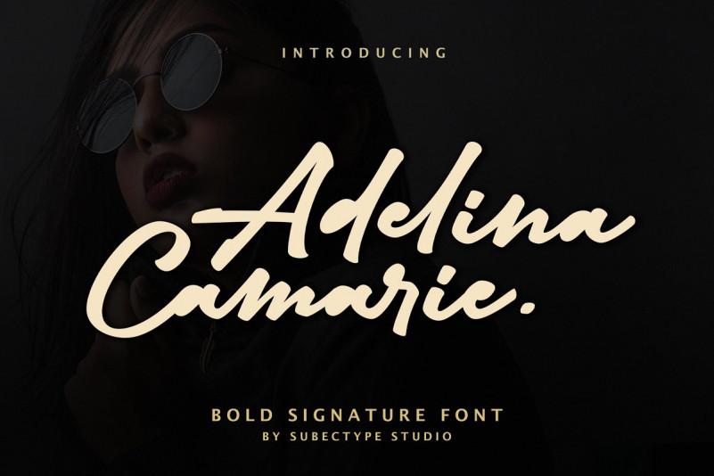 Adelina Camarie Signature Font-1