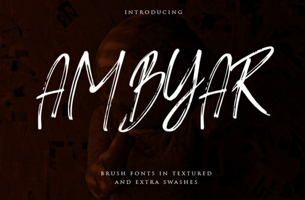 Ambyar Brush Font
