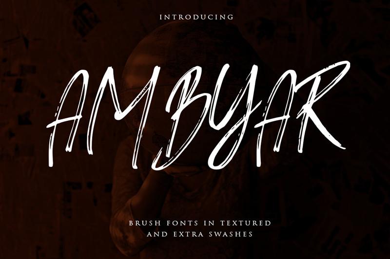 Ambyar Brush Font-1
