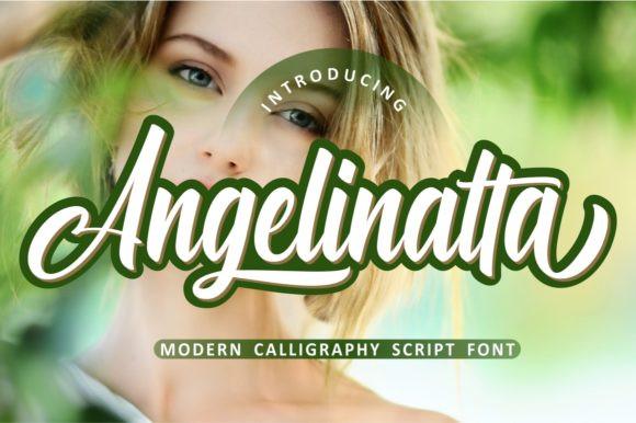 Angelinatta Calligraphy Font