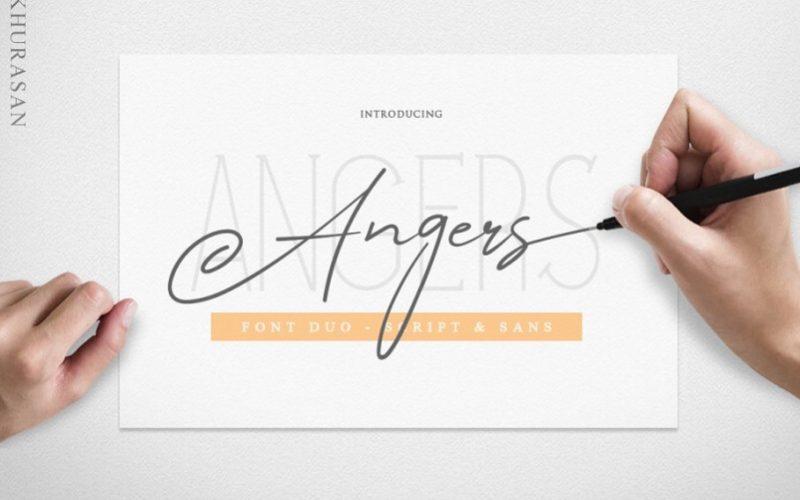 Angers Script Font-1