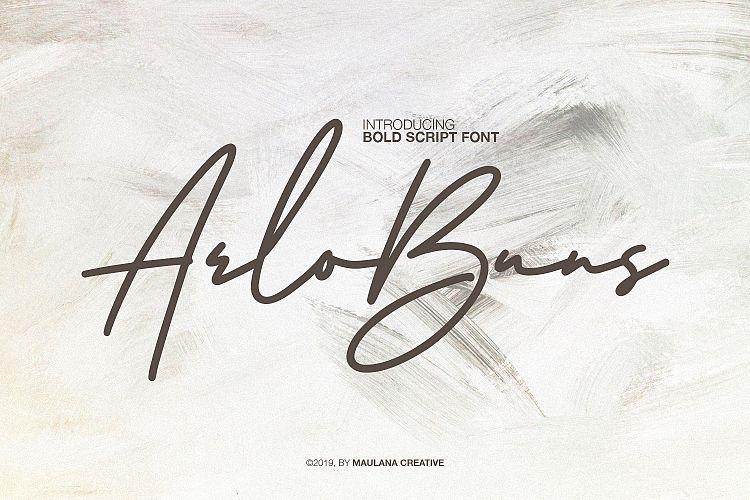 Arlobuns Signature Font-1