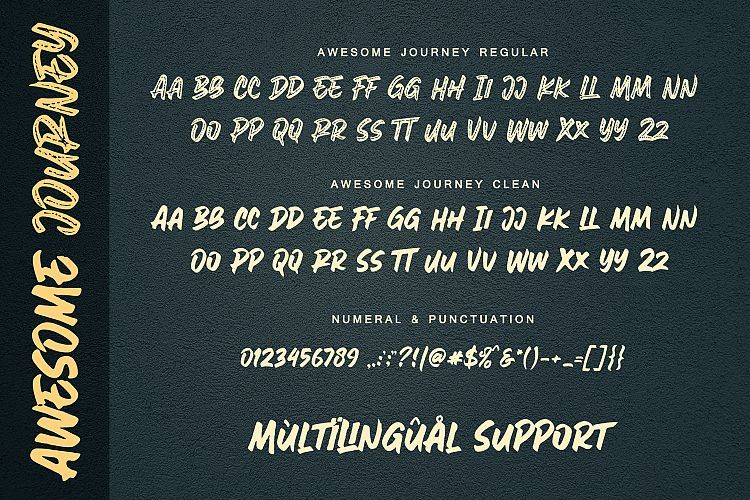 Awesome Journey Brush Font-3