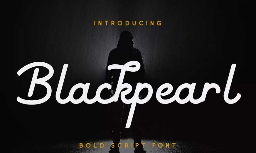 Blackpearl Monoline Script Font-1
