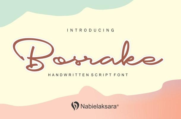 Bosrake Handwritten Font
