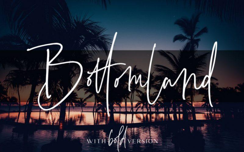 Bottomland Handwritten Font-1