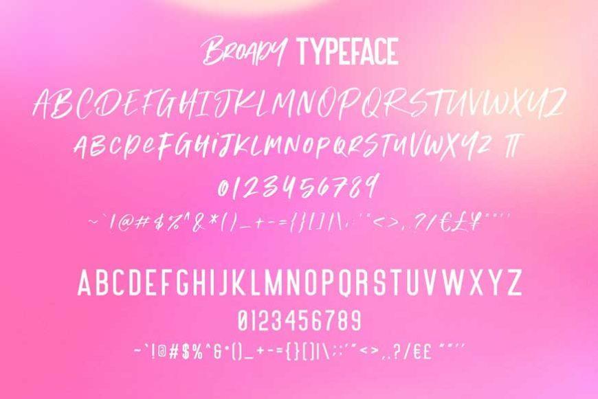 Broady Brush Font-3