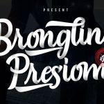 Brongline Presiom Script Font