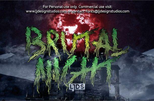 Brutal Night Font