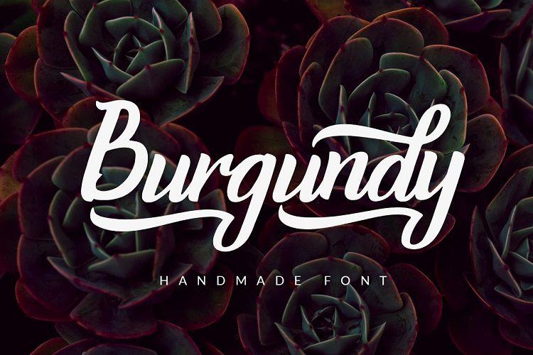 Burgundy Handwritten Font-1