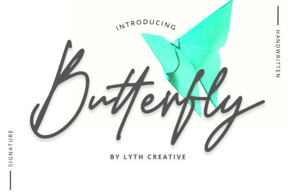 Butterfly Signature Font-1
