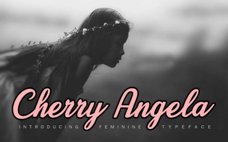 Cherry Angela Script Font-1