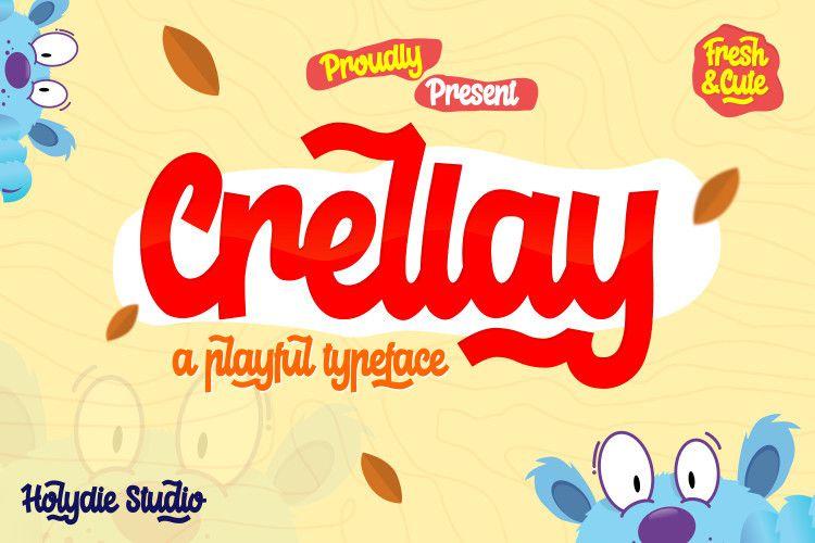 Crellay Cute and Fun Font - Dafont Free