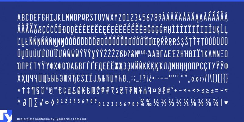 Dealerplate Font Family-3