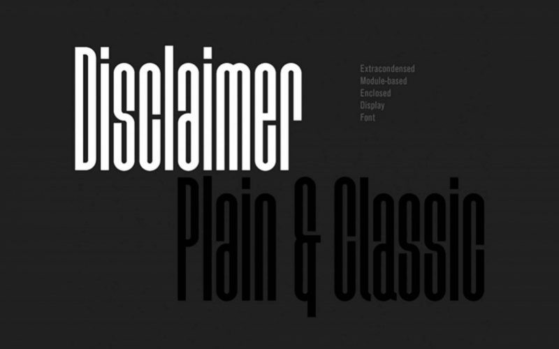 Disclaimer Typeface-1