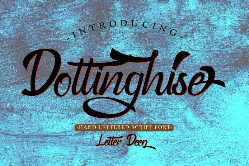 Dottinghise Script Font-1